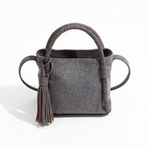 Gray Mini Bucket Bag