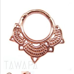 60 off Tawapa Jewelry Tawapa rose gold plated septum or daith