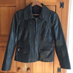 Banana Republic Jackets & Blazers - Banana Republic black leather jacket