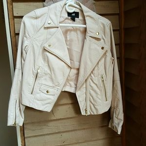 H&M leather/polyester jacket