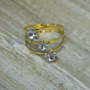 Jewelry - Jewelry | PURPLE CRYSTAL STAR SWIRL GOLD RING