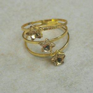 Jewelry - Jewelry | CRYSTAL QUARTZ TRIPLE STAR SPIRAL RING