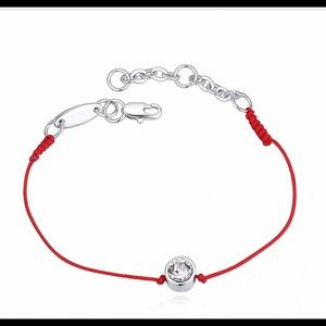 Used, Kabbalah red string with crystal,white gold platedBoutique for sale