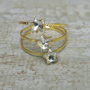 Jewelry - Jewelry | SPARKLY CRYSTAL STARS SPIRAL GOLD RING