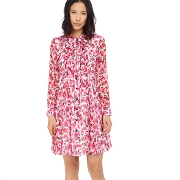 65109242a5 kate spade Dresses   Skirts - Kate Spade Mini Rose Silk Shirt Dress