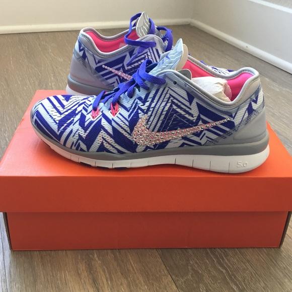 Nike Free TR Fit 5.0 Sneakers w Swarovski Crystals 3cb42b5ed5