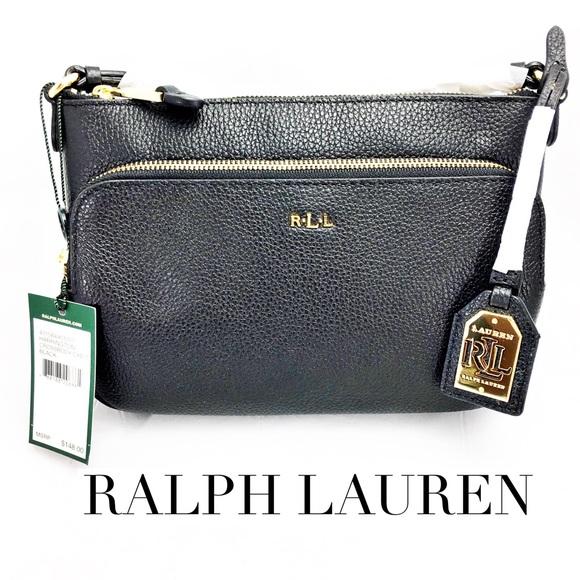 a1ff62fabf40 Ralph Lauren Harrington Black Crossbody