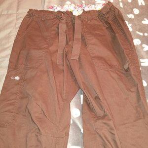 Pants - Dark brown women's scrubs