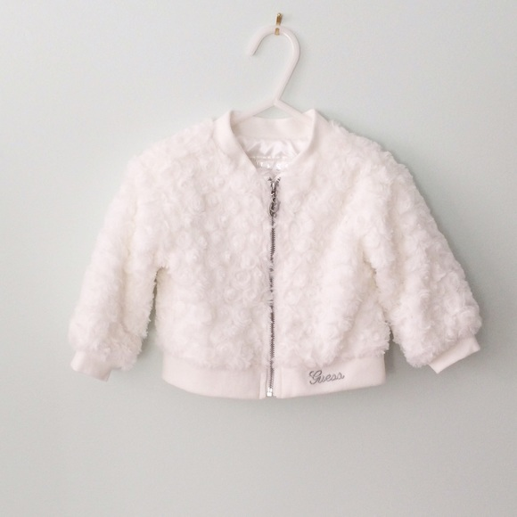 60% off Guess Other - GUESS [baby girl] White faux fur Coat from ...