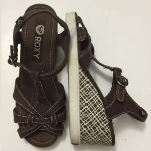 Roxy Brown Wedge size 6
