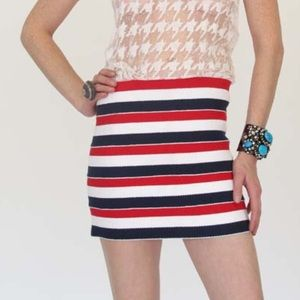 Pleasure Doing Business Dresses & Skirts - PDB Red White and Blue Bandage Skirt