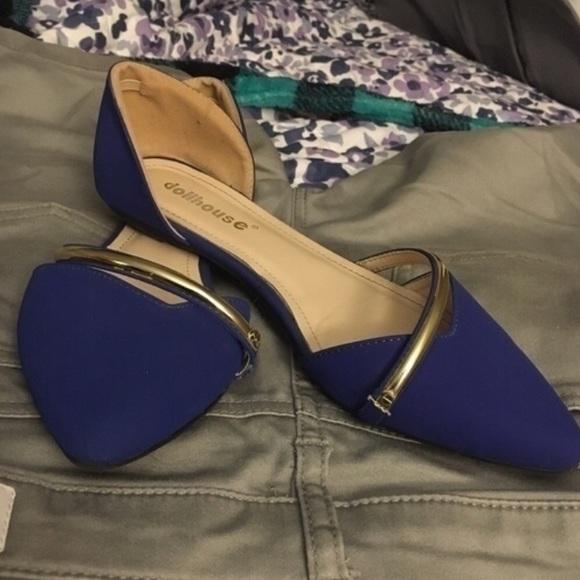 73b209f2476558 Dollhouse Shoes - Dollhouse blue flats
