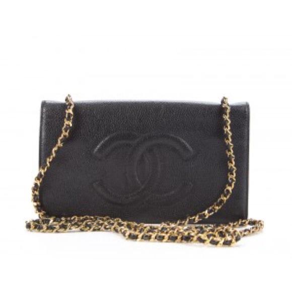 75767b4f6084 CHANEL Bags | Black Caviar Messenger Wallet On Chain Woc | Poshmark