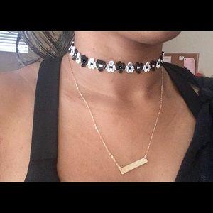 Flower tattoo Choker necklace