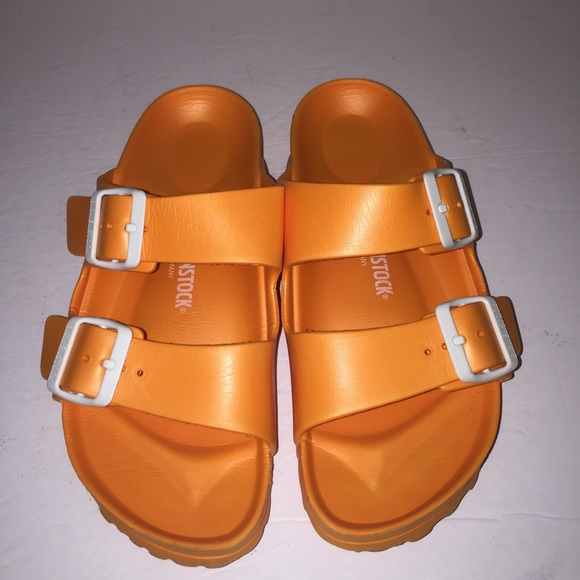 2a964596da83 Birkenstock Shoes - Birkenstock Orange Plastic Arizona Sandals 7 38