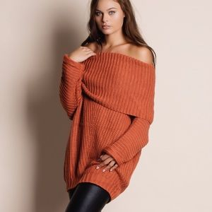 Bare Anthology Sweaters - NBF ❤️ Spellcast Off Shoulder Chunky Sweater Top