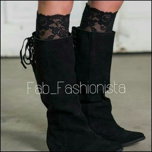 Accessories - LILLY LOVE lace boot cuff : Sexy Black