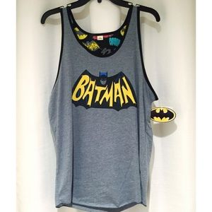 Bioworld Other - Batman Logo Grey & Black Men's Tank Top