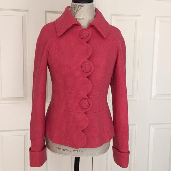 Boden Jackets Coats Final Price Alice Scalloped Edge Coat Poshmark