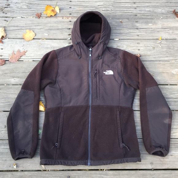 cc968fa28592 Women s Brown Hooded Denali Fleece Jacket. M 581107eac284565a6b00fd2e