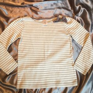 Hanna Andersson Other - Gymboree silver, sparkle striped long sleeve shirt