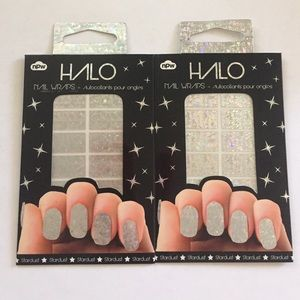 Halo Other - Bundle of 2 HALO Nail Wraps - Silver Stardust