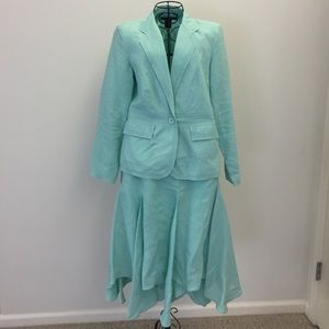 willi smith Other - 3 piece linen suit in a mint green