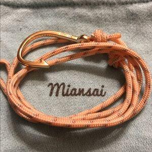 Miansai Jewelry - Miansai Gold Plated Hook on Pastel Rope