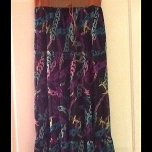 Dresses & Skirts - ✂️Plus MaGiC Belted Chain Link Print Maxi Skirt~1X