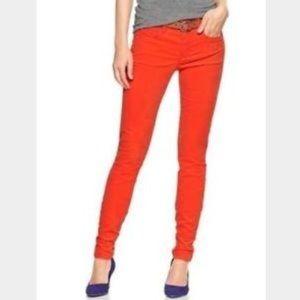 ✨GAP red corduroy legging jean✨