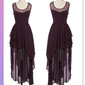 Dresses & Skirts - 🎁1DAY SALE✅STUNNING HI LOW PURPLE LAYERED DRESS