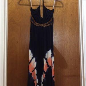 Sky Dresses & Skirts - SKY Halter Leather Braided Maxi Dress