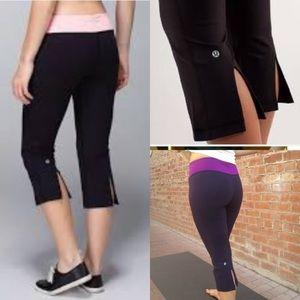 lululemon athletica Pants - Lululemon gather & crow cropped yoga pants 4