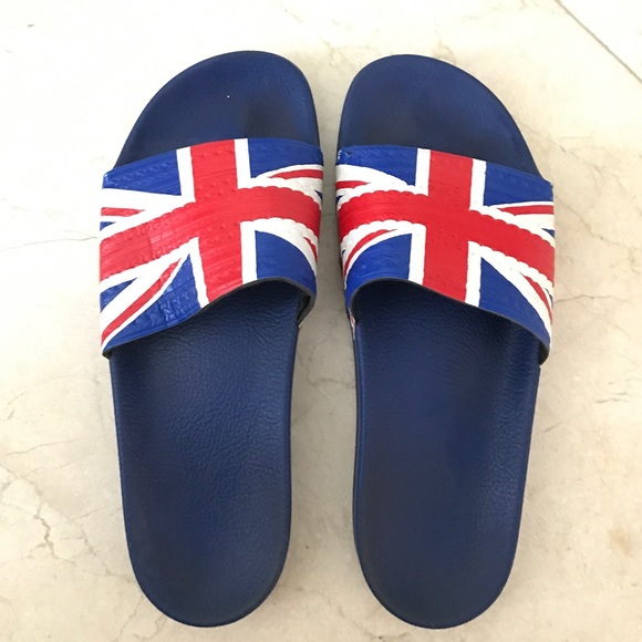 6a298c0b8964b Adidas Other - Adidas men s slides with UK flag ...