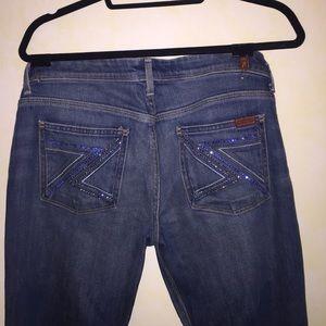 "7 for all mankind bootleg jeans ""flynt"""