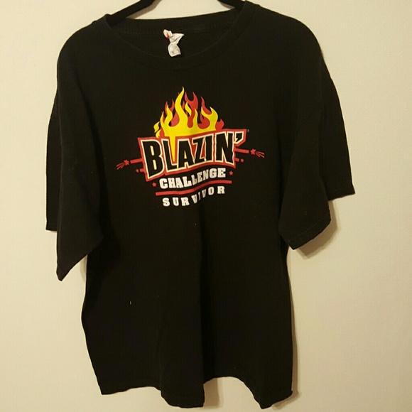 1e35c191466e Blazin  Challenge Buffalo Wild Wings Tee Shirt. M 58111fd1291a3532fe013edd