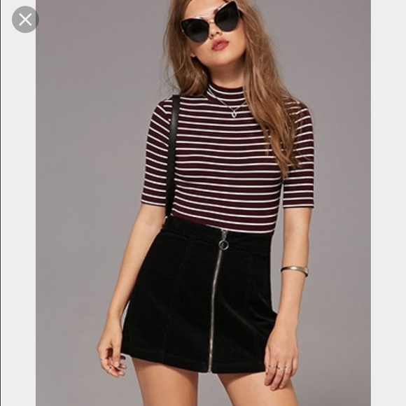 62% off Forever 21 Dresses u0026 Skirts - Black Zip Up Corduroy Skirt from Ju0026#39;s closet on Poshmark