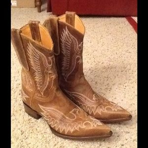 Old Gringo Shoes - OLD GRINGO EAGLE INLAY WESTERN COWBOY BOOTS sz 7