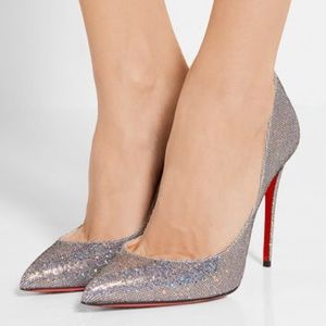 Christian Louboutin Shoes - Christian Louboutin Pigalle Follies Glitter Disco