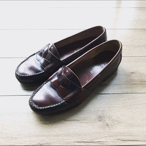 Cole Haan Other - Classic Cole Haan wine red leather loafers