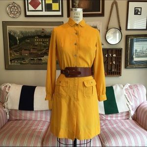 Vintage 1960s Mustard Yellow Dress