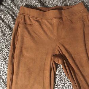 Suede Bootcut Pants