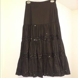 Anage Dresses & Skirts - Festive Full Black Skirt with Sequins by Anage