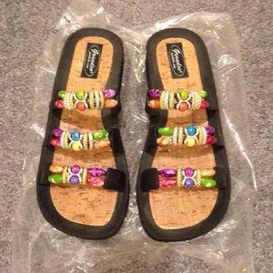 Grandco Sandals Multicolored Beads