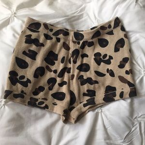 Pants - Cheetah Print Hi Rise Shorts