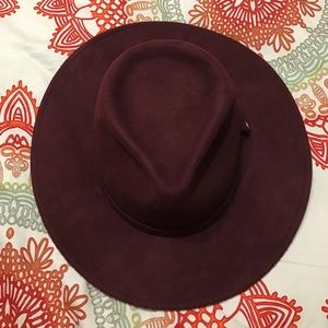 Whistles Accessories - Burgundy hat from WHISTLES