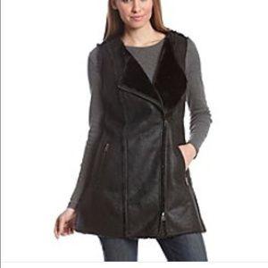 ruff hewn GREY Jackets & Blazers - ruff hewn Grey Faux Suede & Fur Lined Tunic Vest