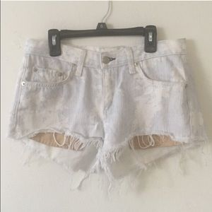 Rag & bone denim ripped shorts