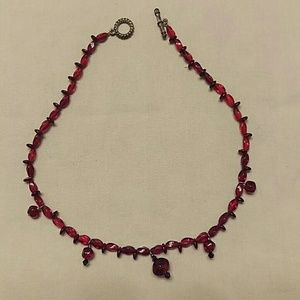 *DONATING SOON* Red Beaded Necklace