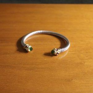 David Yurman Jewelry - David Yurman cable bracelet silver and 14k gold.